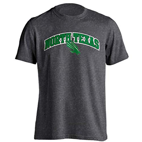 (North Texas Mean Green Classic Arch Mascot Basic Collegiate Short Sleeve T-Shirt)