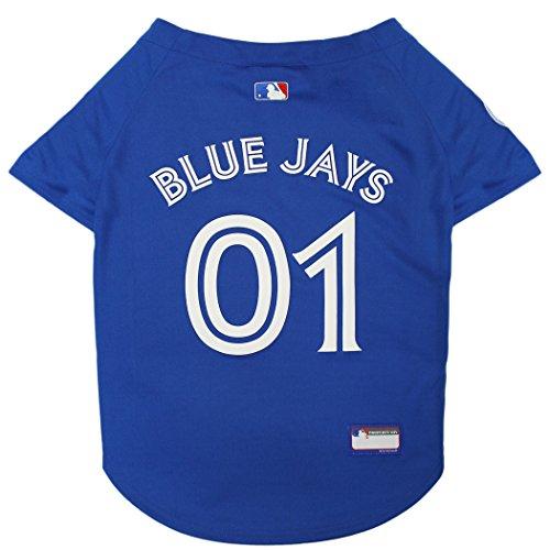 - Pets First MLB Toronto Blue Jays Sports Fan Jerseys, Medium, Blue