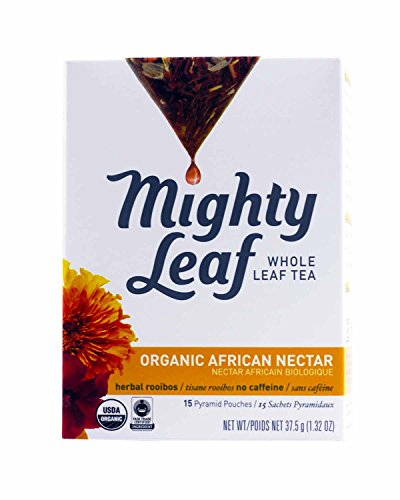 Mighty Leaf Herb Tea, Organic African Nectar, 15-Count Whole Leaf Pouches, 1.32 Ozs. (Pack of 6)