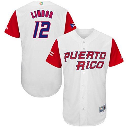 Authentic Baseball Jersey (Men's Javier Baez Jersey 2017 World Baseball Classic Jerseys Authentic White L )