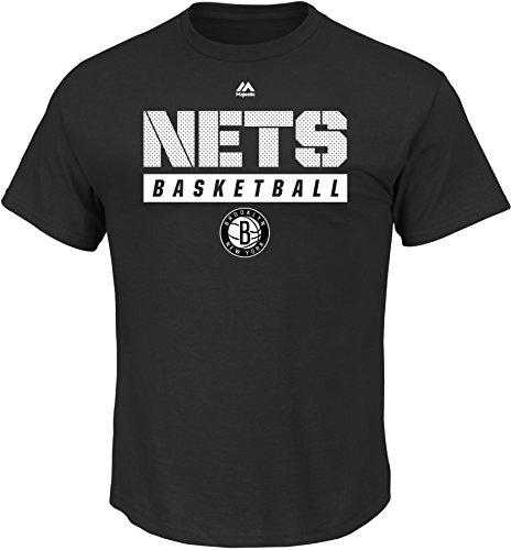 NBA New Jersey Nets Men's Proven Pastime Short Sleeve Crew Neck Tee, X-Large, Black
