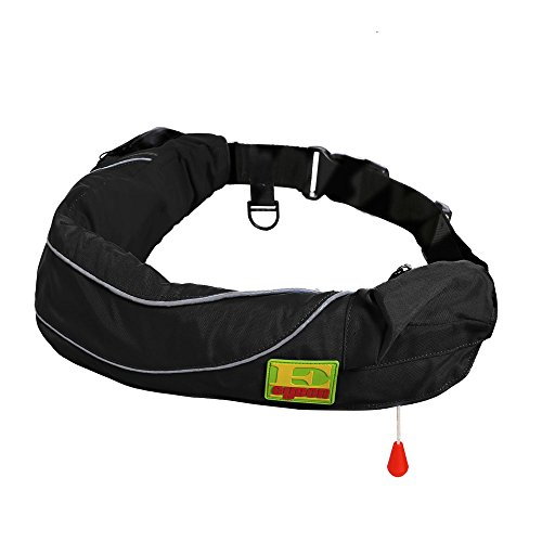 Premium Quality Automatic/Manual Inflatable Belt Pack PFD Waist Inflate Life Jacket Lifejacket Vest SUP Survival Aid...