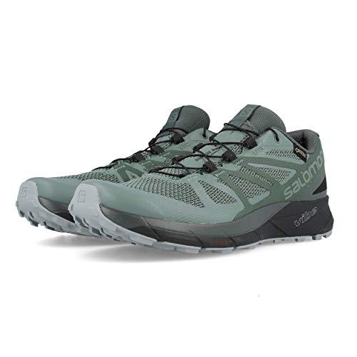 Salomon Sense Ride GTX Invisible Fit Trail Running Shoes - Men's Balsam Green/Urban Chic/Monument 13