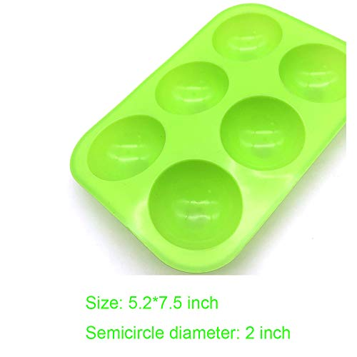 New Medium Semi Sphere Silicone Mold,Baking Mold for Making Hot Chocolate Bomb, Cake, Jelly, Dome Mousse, Healthy lifestyle (2, Green)