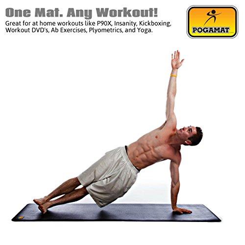 """Pilates Mat Class Description: Pogamat Large Yoga Mats 78"""" X 27"""" X 6.5mm Thick"""
