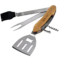 BBQ Tool Set Cooking Gadget Incl. 5 Gril...