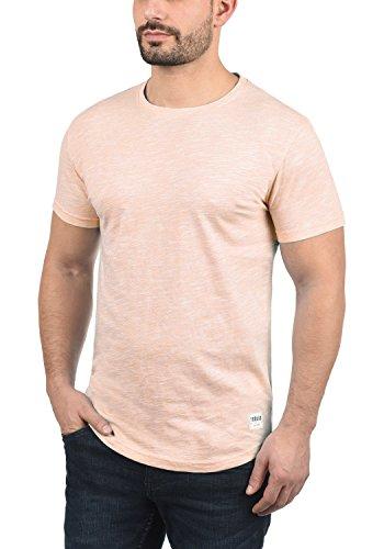 Homme 4203 Manches Figos Courtes Avec Coton 100 Pour solid Chemise Rose shirt Mahog À Rond Encolure T dawFFIq8