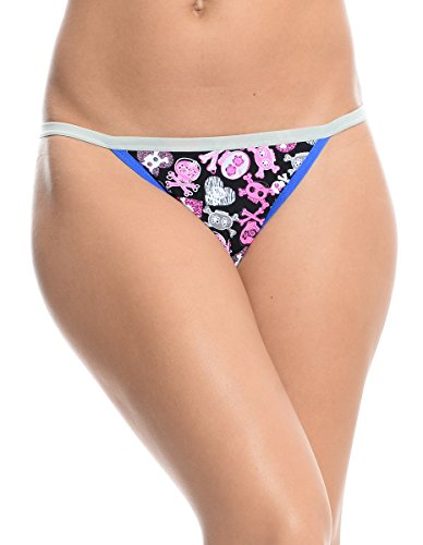 Women's All Mixed up Thong Black (M)