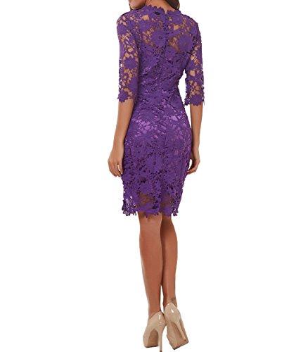 Charmant Damen 4 Royal Kurzes Etuikleider 2 Blau Brautmutterkleider Knielang Festlichkleider Abendkleider 3 Langarm mit Partykleider HRqAWHwrp