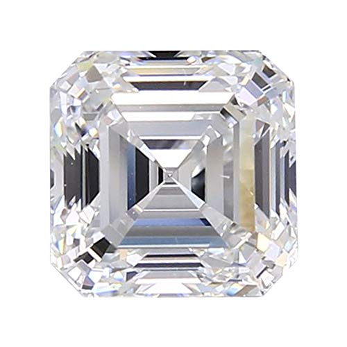 Radiant Settings Diamond Cut - Diamond Veneer Cubic Zirconia Intensely Radiant Asscher Cut Loose Stone, Clear (1ct.)