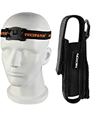 Flashlight,NICRON N7 Holster for Tactical Torch Flashlight Holder Nylon Pouch Clip Long Type Case With Adjustable Headband 100% Match,for Cycling, Repair,Hiking, Lightweight, Waterproof