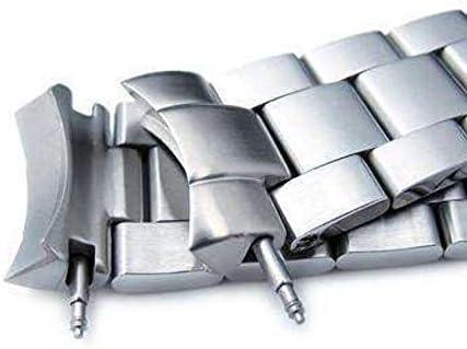 Cinturino orologio con cinturino 20mm Super Oyster Braccialetto per orologio SEIKO Mid-size Diver SKX023, chiusura da sub, spazzolato