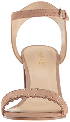 Nine West Women's Gurl Suede Dress Sandal Natural NOndj