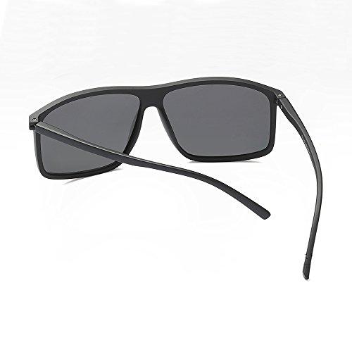con de el de conducción polarizadas opaco sol gafas UV400 Sunglasses Rectángulo macho negro cuadro gafas para TL hombres hombres polarizadas sol de AwqTSUx