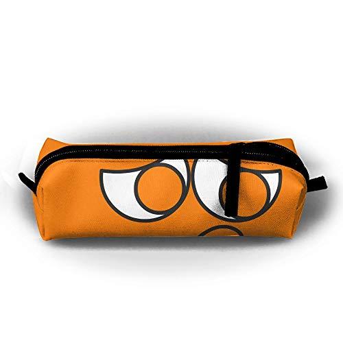 Orange Sad Face Pens Bag Makeup Office