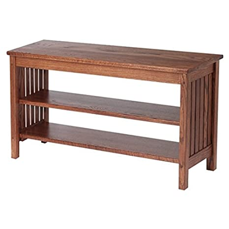 Amazon Com Mission Style Solid Oak Tv Stand 4541 Kitchen Dining
