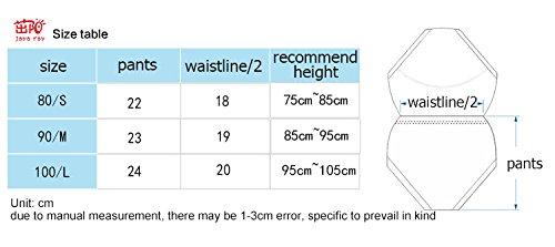 entz/ückendes Design f/ür Babys von 9 bis 36 Monate 35/cm gro/ßer Bund reine Baumwolle Gr/ö/ße/M Bebedou T/öpfchentrainingshosen 3-lagige Toilettentrainingshose