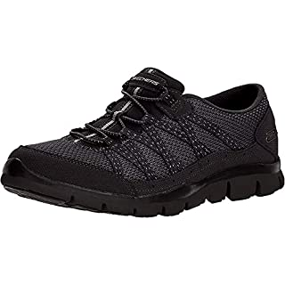 Skechers Women's Gratis-Strolling Sneaker, BBK, 5.5 M US