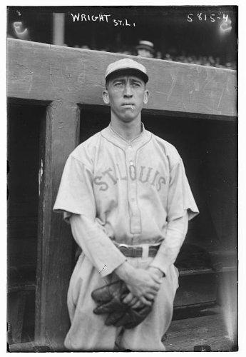 (HistoricalFindings Photo: Wayne 'Rasty' Wright,St. Louis American League,baseball player,pitcher,dugout)