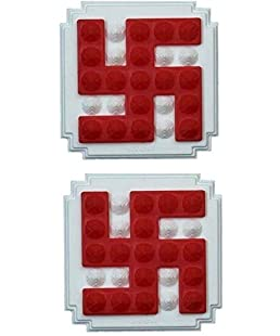 Jiten Pyramid Plastic Swastik - Mini Power of 75 White Pyramids and 17 Red Pyramids
