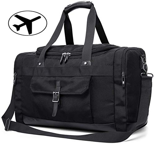 IBEILLI Overnight Travel Bags Leather Water Resistant Weekender Luggage Duffel