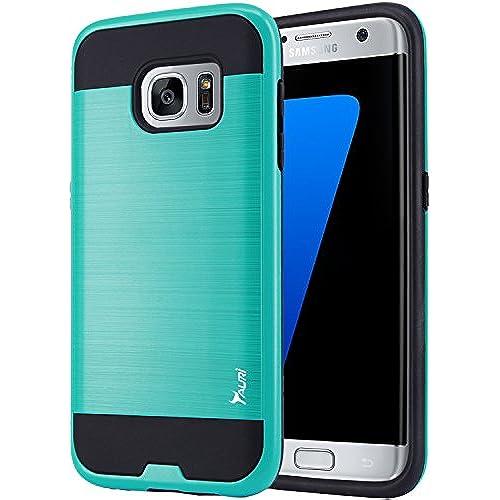 Tauri Samsung Galaxy S7 Edge Slim Hybrid Defender Case - Mint Sales