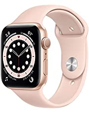 Apple Series 6 Silicone Watch with GPS and Blood Oxygen Sensor, 44 mm - Pink Sand