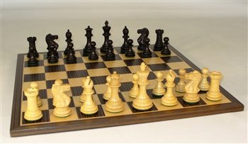 Checkmate Medium Black New Classic Chess Pieces by Checkmate