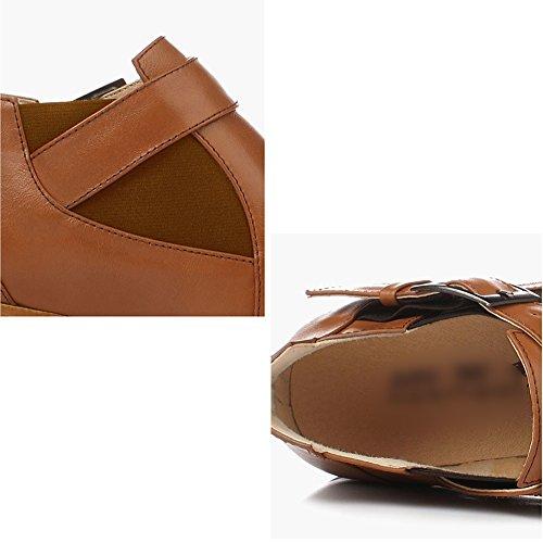 Braun EU41 2 größe Verfügbar 255mm Frau Mode Winter Größen Stiefeletten LIANGJUN Farben Schuhe L UK7 10 Farbe Frühling 6w7fYOAxq