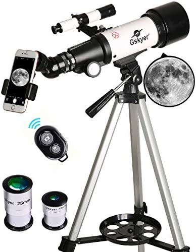 411YHg826dL. AC  - Gskyer Telescope, 70mm Aperture 400mm AZ Mount Astronomical Refracting Telescope for Kids Beginners - Travel Telescope with Carry Bag, Phone Adapter and Wireless Remote