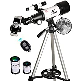 Gskyer Telescope, 70mm Aperture 400mm AZ Mount Astronomical Refracting Telescope for Kids Beginners – Travel Telescope…