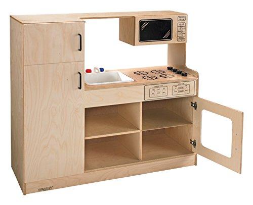 "Childcraft 1491193 Complete Open Kitchen Center, 42"" Height, 16"" Width, 47.75"" Length, Natural Wood"