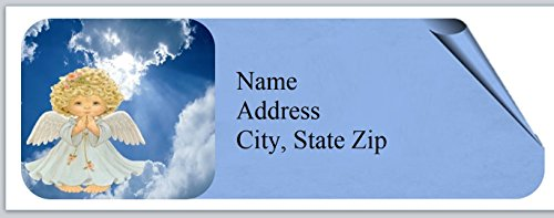 120 Personalized Address Labels Primitive Country Angels (bo 830) - Angel Personalized Address Labels