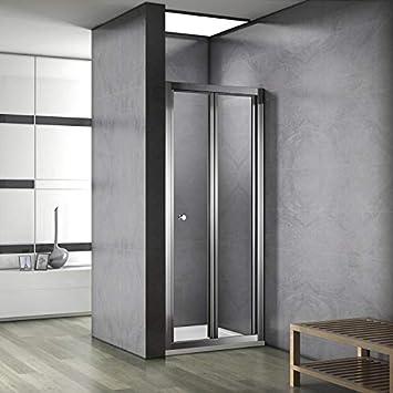 Puerta corredera tipo libro de 100 cm de ancho, plato de ducha de 100 x 70 cm: Amazon.es: Bricolaje y herramientas