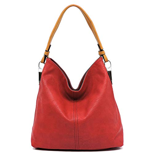 Red body shoulder detachable strap with handbag classic cross hobo shoulder Slouchy light and 7pqUU6