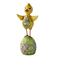 Enesco Jim Shore Heartwood Creek Mini Easter Chick Figurine, 4-Inch