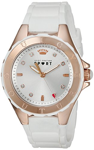 Juicy Couture Women's White Gold Silicone Strap Watch - 4