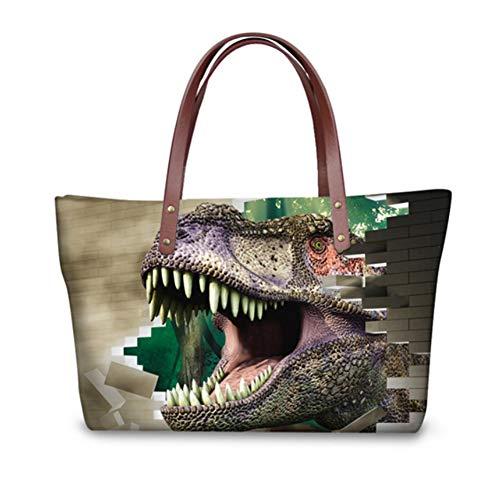 pour Cabas Dinosaur 1 femme showudesigns Multicolore chat 4Xqx5dTqw