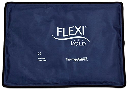 FlexiKold Gel Ice Pack (Standard Large: 10.5'' x 14.5'') - One (1) Reusable Cold Therapy Pack (For pain and injuries, wrap around Knee, Shoulder, Foot, Back, Ankle, Neck, Hip, Wrist) - 6300-COLD by FlexiKold (Image #2)