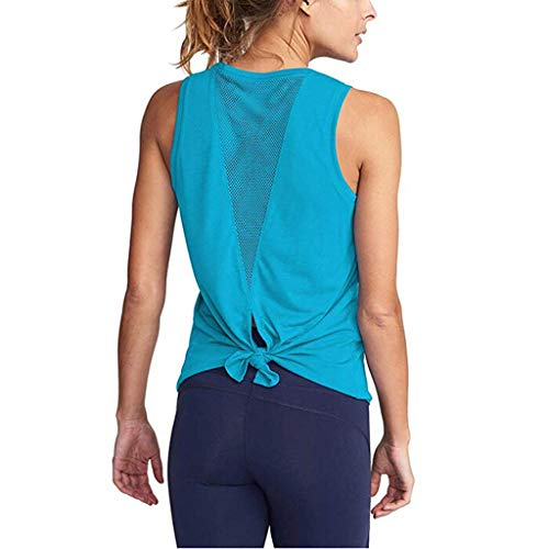 Wrap Shutter (Women's Yoga Tank Top Open Back Tops Sports Racerback Tank Top Elastic Sleeveless T-Shirt Vest for Fitness Gym Toponly)