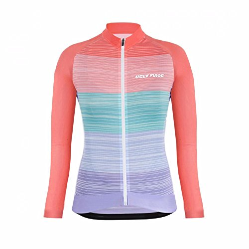 Largas Color Uglyfrog Transpirable Cálido Ciclismo Mujer Ropa Maillots Warm Completa Último 03 Cremallera Moda Deportiva Mangas Winter wwpBRXFUq