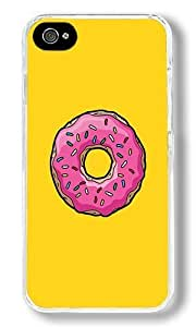 The Doughnut Custom iPhone 4S Case Back Cover, Snap-on Shell Case Polycarbonate PC Plastic Hard Case Transparent