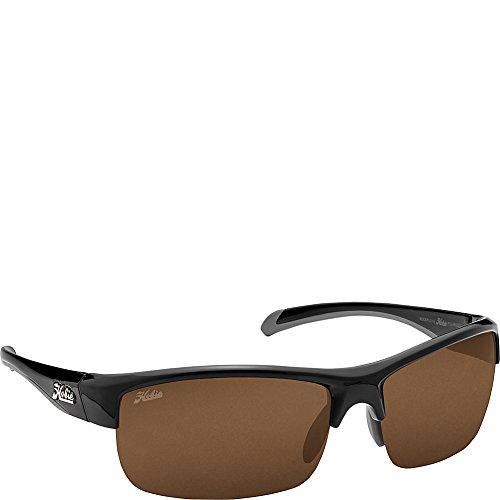 - Hobie Eyewear Rockpile Sunglasses (Shiny Black Frame/Copper Polarized Pc Lens)