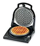 Chef'sChoice 840B WafflePro Taste/Texture Select Nonstick Classic Belgian Waffle Maker with Unique Quad Baking System and Easy Clean Overflow Channel, 4-Slice, Black