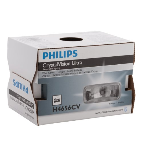 Philips H4656 CrystalVision ultra Upgrade Xenon-Look Halogen Headlight, 1 Pack