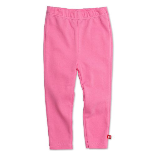 (Zutano Little Girls' Primary Solid Skinny Legging, Hotpink, 2T)