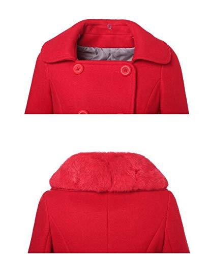 Xqy Abrigo Chaqueta Señoras Rojo Largo Invierno E Mujeres De Otoño SHxaw