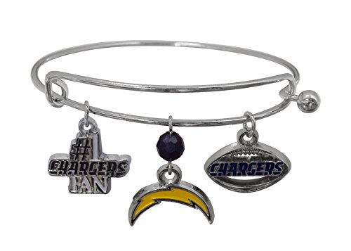 Pro Specialties Group NFL San Diego Chargers Three Charm Logo (San Diego Chargers Jewelry)