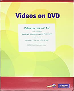Video Lectures on CD with Optional Captioning for Algebra & Trigonometry and Precalculus
