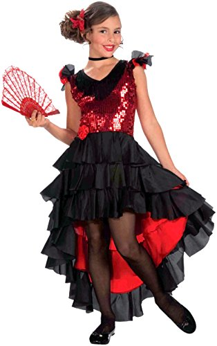 Forum Novelties Spanish Dancer Costume, Small (Girls Spanish Flamenco Dancer Costume)